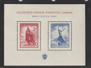 Czechoslovakia a scarce mini sheet from 1952 MNH