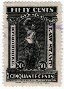 (I.B) Canada Revenue : Quebec Law Stamp 50c