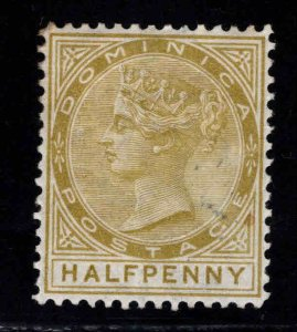 DOMINICA Scott 4 MH* Victoria  CC wmk 1, perf 14 little stain on front