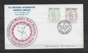 DOMINICAN REPUBLIC STAMP COVER MNH #JUNI68