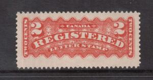 Canada #F1b XF/NH & Rare **With certificate**
