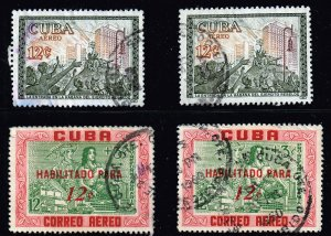 US STAMP CUBA STAMP AIR MAIL USED STAMPS LOT