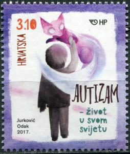 Croatia 2017. Autism - Living in their own World (MNH OG) Stamp