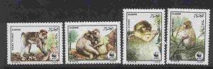 Algeria 872-5 MNH Barbary Apes, WWF