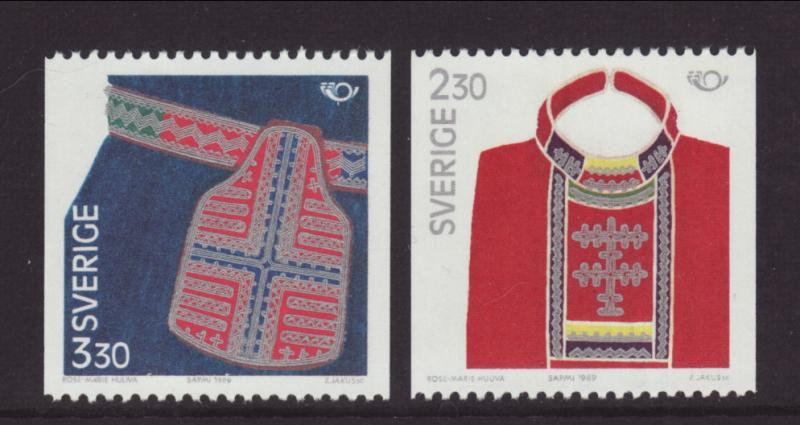 Sweden 1733-1734 Costumes MNH VF
