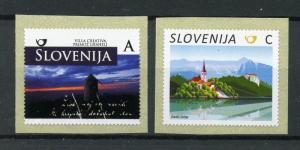 Slovenia 2017 MNH Definitives Triglav Bled 2v S/A Coil Set Nature Tourism Stamps