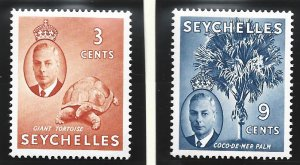 Seychelles Stamps Scott #158 To 162, Mint Lightly Hinged