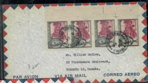 VIRGIN ISLANDS COVER (P0407B)   KGVI 5C X4 A/M COVER TO CANADA