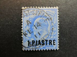 A4P9F8 Great Britain Offices in Turkish Empire 1906 Perf. 14 1pi on 2 1/2p used