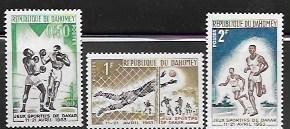Set of 3 MNH stamps showing Various Games in Dakar