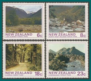 New Zealand 1975 Forest Park Scenes, MNH  #577-580,SG1075-SG1078