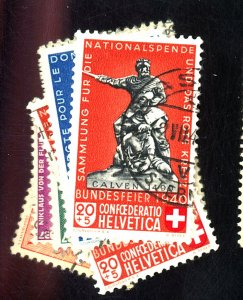 Switzerland #B85-8,B100-4 Used FVF Cat$25