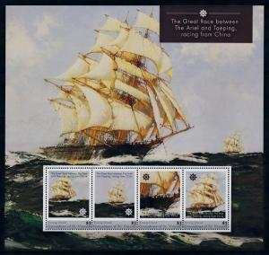 [93177] Young Isl. Gren. St. Vincent 2011 Ships Great Race from China Sheet MNH
