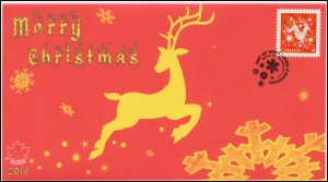 CA19-047, 2019, Christmas, Pictorial Postmark, First Day Cover, Reindeer