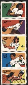 SC#2961-65 32¢ Recreational Sports Strip of Five (1995) MNH