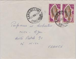 Cameroun 15F Nile Mouth Breeder (2) 1969 Sangmelima, Cameroun Airmail to Nice...