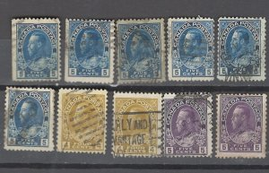 COLLECTION LOT # 2916 CANADA #110-2 104 STAMPS 1912+ CLEARANCE CV+$20