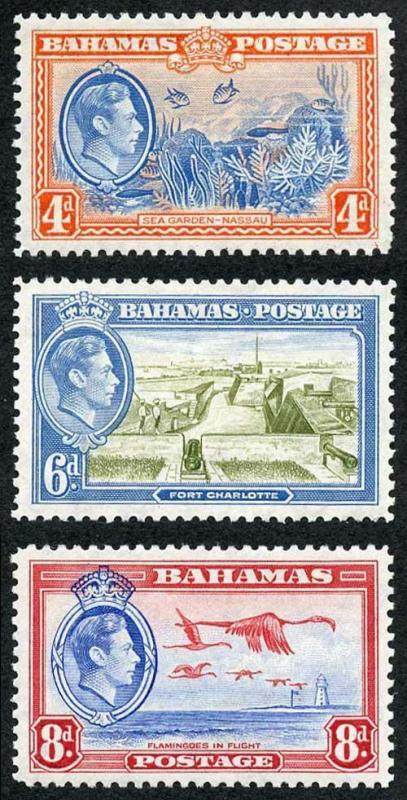 Bahamas SG158/60 1938 Set of 3  M/Mint (hinge remainder)