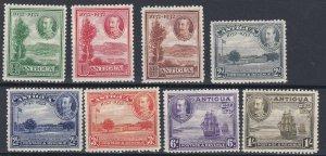 ANTIGUA  1932  SG 81 - 88  PART  TERCENTENARY SET TO 1/-   MH  CAT £75