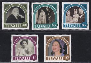 Tuvalu # 454-458, Queen Elizabeth Anniversaries, NH, 1/2 Cat.