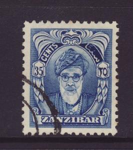 1952 Zanzibar 35c Defin F/U