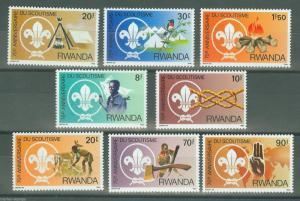 RWANDA 75th ANNIVERSARY OF SCOUTING  SET MINT NH