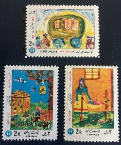 Middle East,worldwide,p,1973  MNH** ,shah, Children Week, Painting, Art,