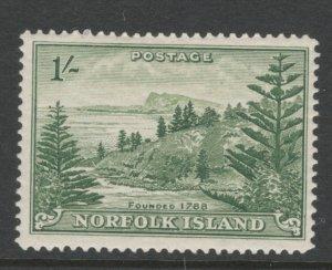 Norfolk Island 1947 View of Ball Bay 1sh Scott # 11 MH