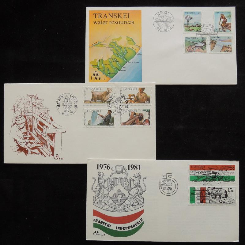 ZS-R927 TRANSKEI - Fdc, 1978-1981, Water Resources, Works, Lot Of 3 Covers