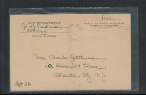 Postal Card WW 2 War Department Notice of Change of Address Form Used 1944