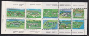 Canada # 1059a, Canadian Forts, Complete Booklet, NH, 1/2 Cat.