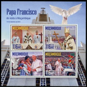 MOZAMBIQUE 2019 POPE FRANCIS  SHEET MINT NEVER HINGED