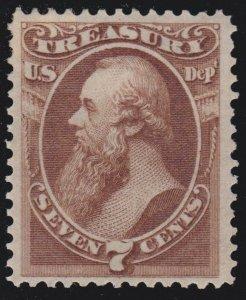 US O76 7c Treasury Department Mint XF OG H SCV $250