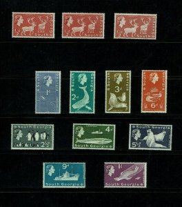 South Georgia: 1963, Definitive, short set to 1/-, MNH set