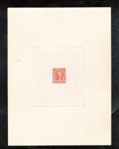 USA #561-TC1ae Extra Fine Large Die Proof Trial Color In Red Orange W\ Control #