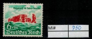 Deutschland Reich TR02 DR Mi 750 1938 Reich Postfrisch ** MNH