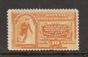 US Sc E3 MNH. 1893 10c orange Special Delivery F-VF