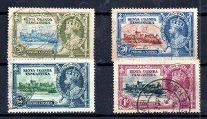 Kenya Uganda 1935 Silver Jubilee used set KGV WS14991