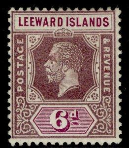LEEWARD ISLANDS GV SG72, 6d dull & bright purple, M MINT. Cat £21.