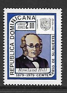 DOMINICAN REPUBLIC, C299, MNH, ROWLAND HILL DOMINICAN REPUBLIC
