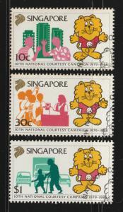 1988 Singapore 10th National Courtesy Campaign set of 3V CTO SG#583-585