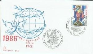 VATICAN POPE JOHN PAUL II WORLD YEAR OF PEACE 1986 FDC R202063