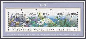 NEW ZEALAND 1990 Orchids souvenir sheet MNH.................................3173