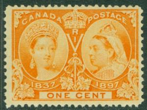EDW1949SELL : CANADA 1897 Unitrade #51 VF, Mint Never Hinged. PO Fresh. Cat $120