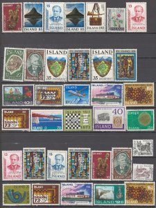 COLLECTION LOT OF # 1700 ICELAND 36 STAMPS 1970+ CLEARANCE