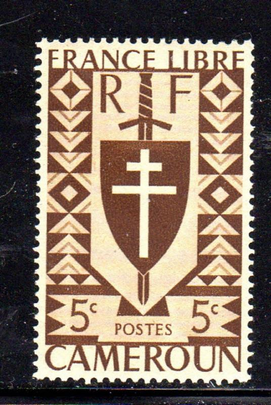 CAMEROUN #282  1941 LORRAINE CROSS & JOAN OF ARC SHIELD    MINT  VF NH  O.G