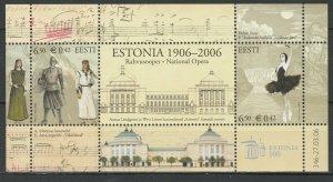 Estonia 2006 National opera, theater, music MNH Block