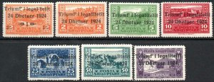 ALBANIA-1925 Return of Government Set of 7 Sg 164-170 MOUNTED MINT V40615