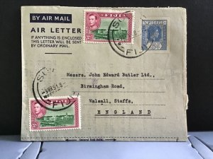 Fiji 1951  Air Mail Letter to England  stamps cover R31368