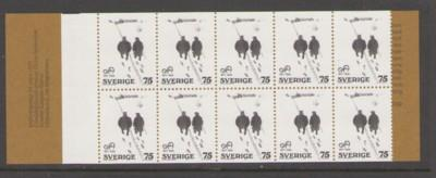 Sweden Sc 1201a 1977 Andersson stamp booklet mint NH